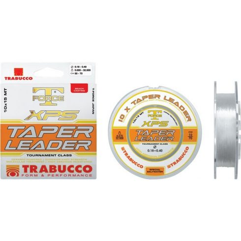 Trabucco T-Force XPS Taper Leader 0,20mm-0,50mm 10x15m
