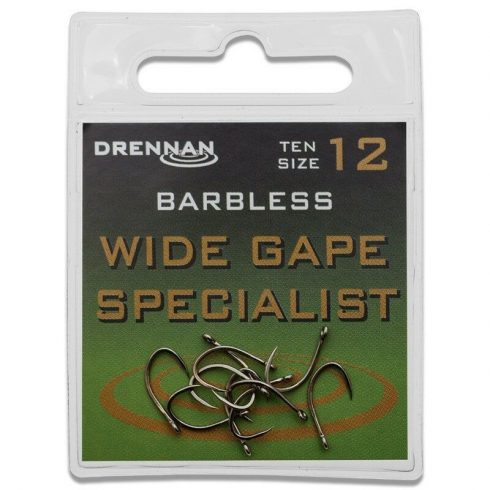 Drennan Wide Gape specialist füles szakál nélküli 6-es