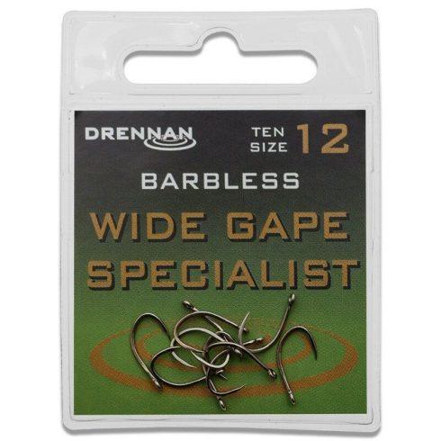 Drennan Wide Gape specialist füles szakál nélküli 12-es